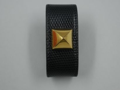 HERMES - Bracelet cuir manchette