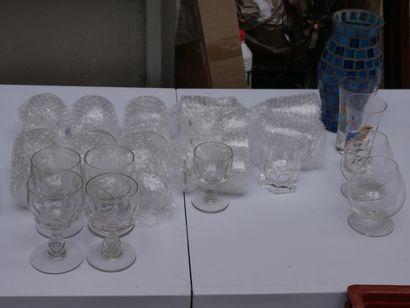 Manette de verrerie diverses