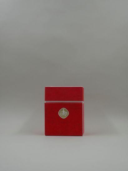 NINA RICCI « Farouche »  Flacon en verre. Bouchon écrou en cristal de Lalique. Titré...
