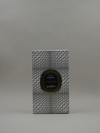 GUERLAIN « Shalimar » Flacon en verre, modèle goutte. Bouchon doré, scellé. Etiquette...