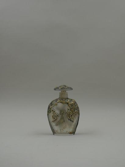 T. JONES « Gai Paris »  Rare flacon en verre...
