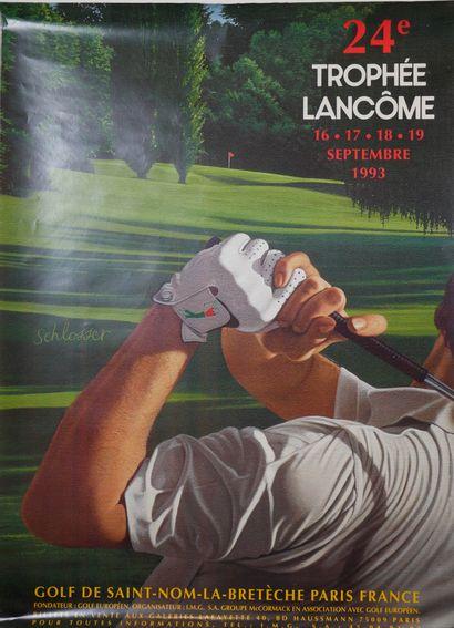 LANCOME  Rare affiche publicitaire illustrée...