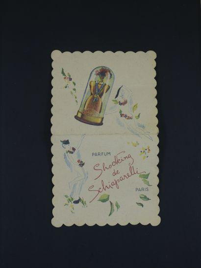 SCHIAPARELLI « Shocking »  Rare double carte,...