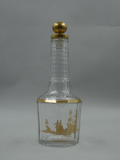 HOUBIGANT  Flacon en cristal de Baccarat,...