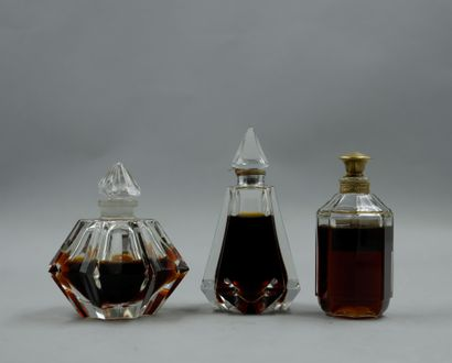 Set of 3 bottles including 1 Ciro PDO? bottle, 1 Jacques Fath PDO? bottle, and 1...