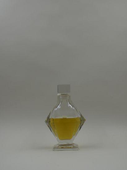 "RICHARD HUDNUT ""Gemey  Baccarat crystal bottle. Body with oval cutout resting on..."