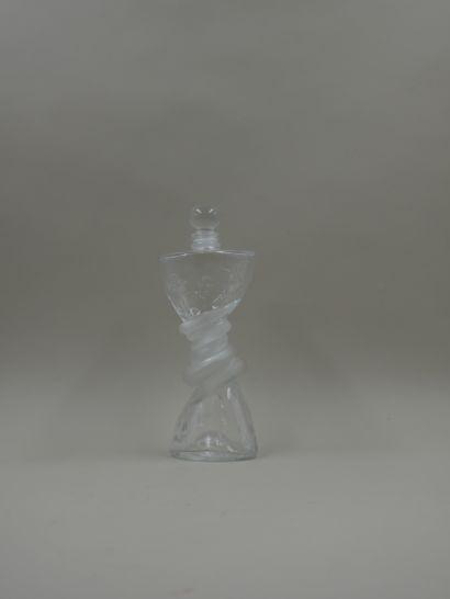 SERGE MANSAU « Le sablier »  Flacon de forme...