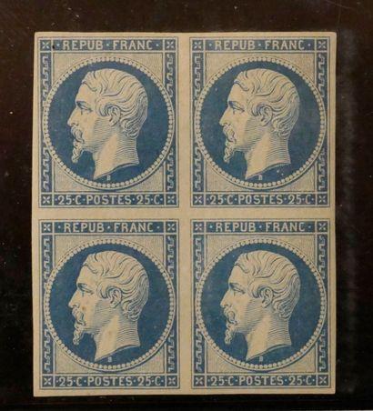 FRANCE REIMPRESSION du 25c bleu N°10c Yvert,...