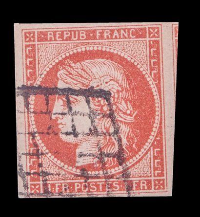 FRANCE Emission 1849/1850 : N°7a-1F VERMILLON...