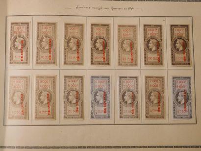 FRANCE FISCAUX Emission 1864 : Très bel ensemble de 217 timbres dit « EFFETS DE...