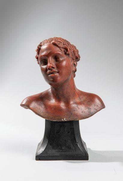 Vincenzo GEMITO (1852-1929). Buste de femme....