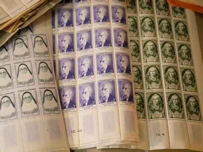 FRANCE Emissions 1940/1980 : Lot de timbres...