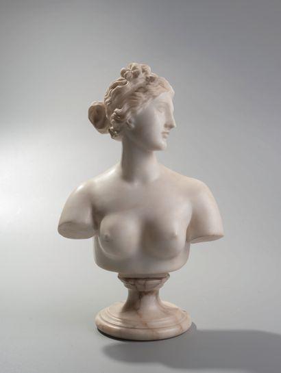 Ecole Française XIXème. Buste d'Aphrodite...