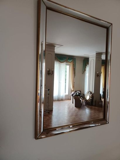 Miroir rectangulaire, montants en miroir...