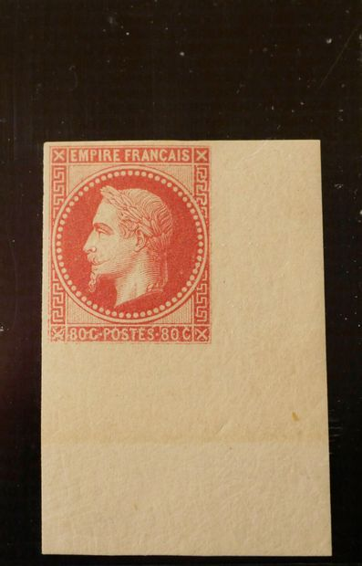 COLONIES GENERALES N°10-80c rose, coin de...