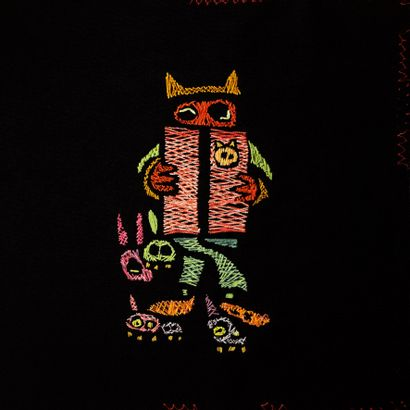 Hector OLGUIN (1970). Contes d'été. Bande dessinée brodée composée de trente broderies...