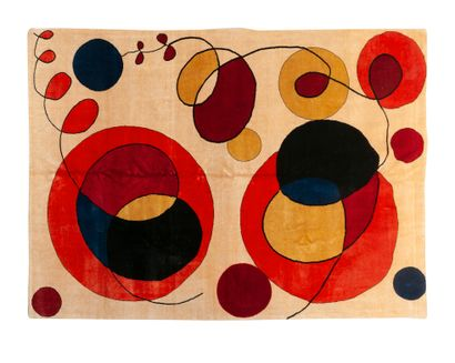 Tapis moderne contemporain XXème, carton...