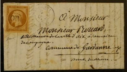 FRANCE Emission 1852 : 10c Présidence oblitéré...