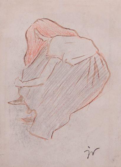 Jacques VILLON (1875-1963) Jeune fille rousse...