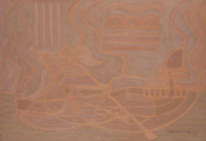 Serge CHARCHOUNE (1888-1975). Gondola N°6,...