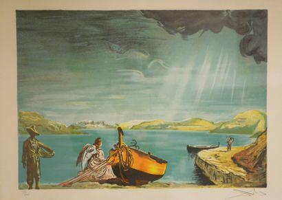 Salvador DALI (1904-1989). L'ange de Cadaquès....