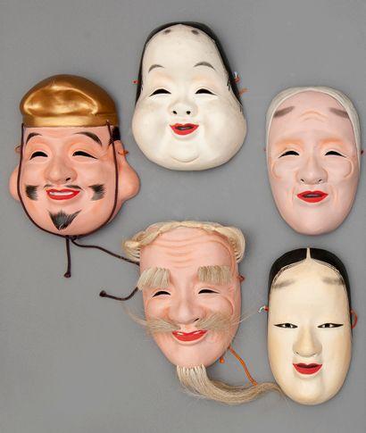 JAPON, Cinq masques japonais inspirés de...