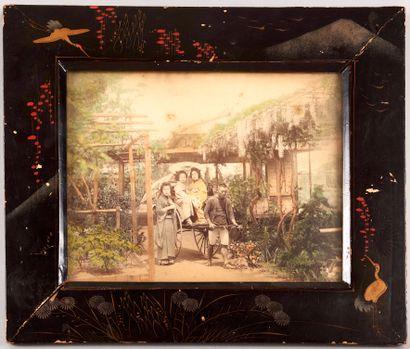 JAPON début XXe - Ensemble de quatre photographies...