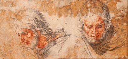 Ecole Française XVIIIème. Etude de tête d'homme....