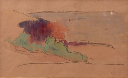 Gustave LOISEAU (1865-1935). Etude de bord...