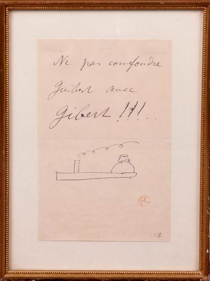 """Henri DE TOULOUSE-LAUTREC (1864-1901). """"Ne pas confondre Guibert avec Gibert !!!""""...."""