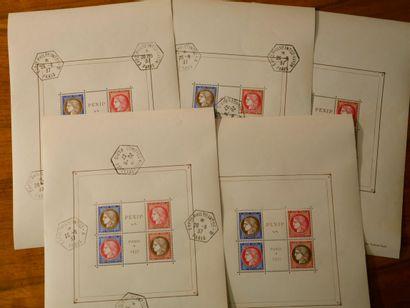 France Emissions 1920/1940 : 2 classeurs contenant des timbres neufs et oblitérés,...