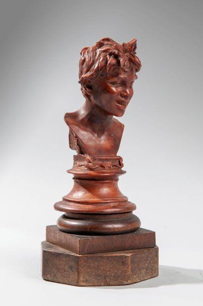 Vincenzo GEMITO (1852-1929). Le sculpteur de l'âme napolitaine. Tête de jeune garçon...