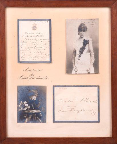 BERNHARDT (Sarah) - 1844-1923 - Lettre autographe...