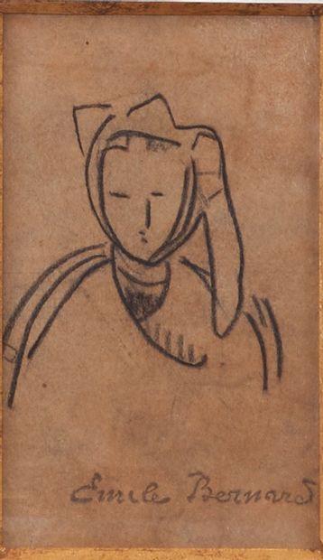 Emile BERNARD (1868-1941). Portrait d'une...