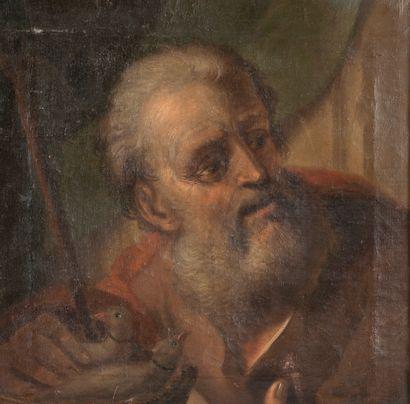 Ecole Italienne début XVIIIème. Saint Joseph....