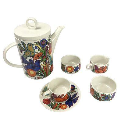 VILLEROY BOCH. Service à thé/café, Modèle ACAPULCO par Christine REUTER, comprenant...