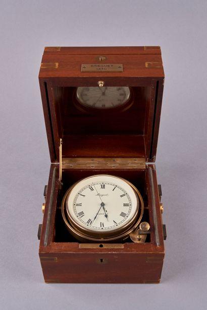 BREGUET. Montre chronométre de marine à suspension...