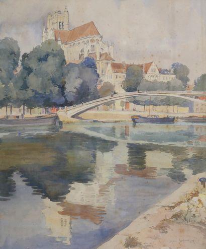 Jean LAFORGUE (1901-1975). Cathédrale au...