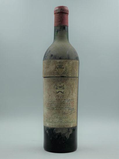 1 bouteille CHÂTEAU MOUTON ROTHSCHILD 1945...