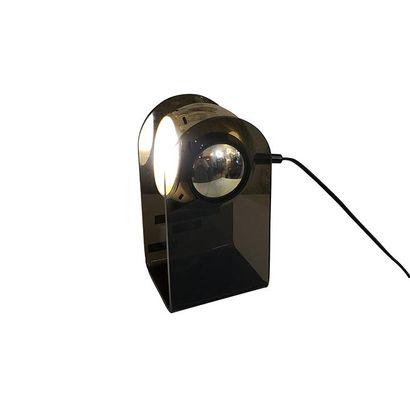 Gino SARFATTI (1912 - 1985). Dans le goût de. Lampe rotative à poser en plexiglass...