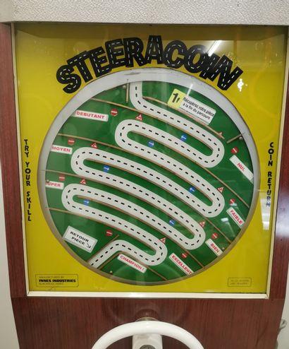 STEERACOIN. Vintage Game. Jeu de café consistant à diriger une pièce. Haut 155c...