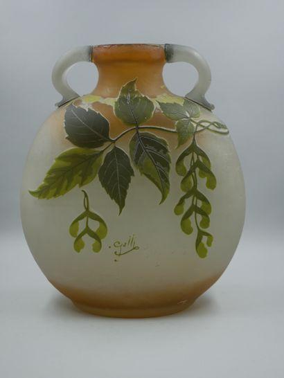 ETABLISSEMENTS GALLE (1904-1936). Grand vase...