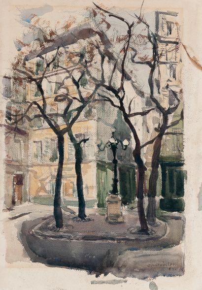 Aimé Daniel STEINLEN (1923-1996). Place Furstenberg...