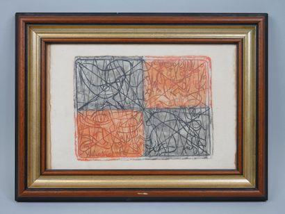 Yo MARCHAND. Composition abstraite. Technique...