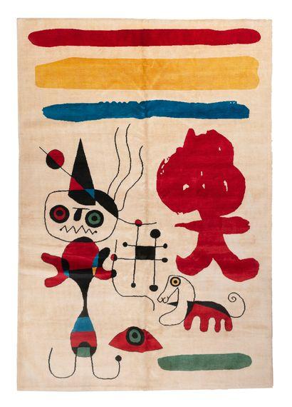 Tapis moderne - D'après Joan MIRO (1893-1983)....