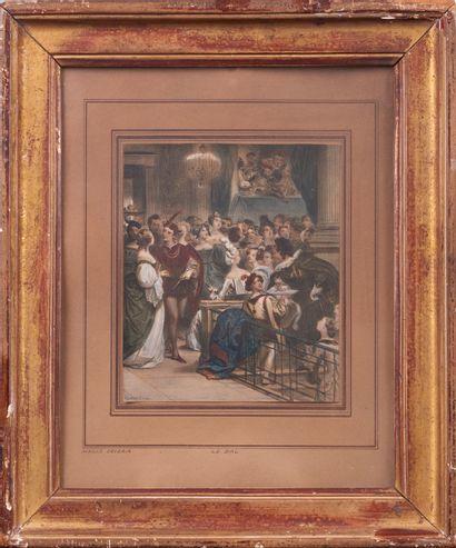 Achille DEVERIA (1800 - 1857). Le Bal. E...