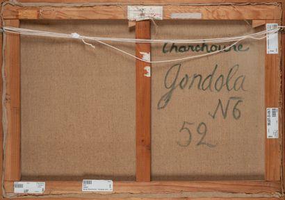 PRICE DROP. Serge CHARCHOUNE (1888-1975). Gondola N°6, June 1952. Oil on canvas....
