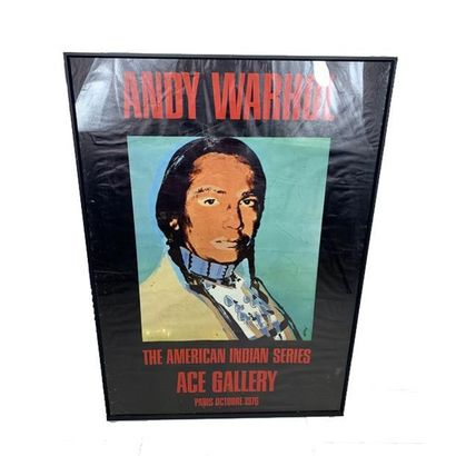 The American Indian Series Ace Gallery Andy Warhol, 1977, WARHOL ANDY. Affiche entoilée/...