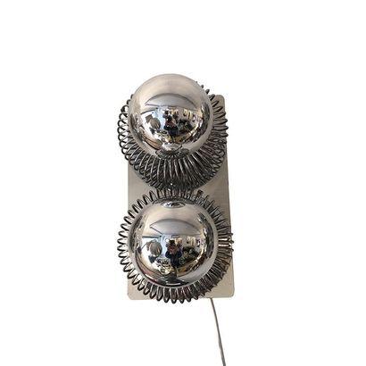 Andrea LAZZARI (born 1984) for MOROSINI, Italy 1970. Wall lamp made of a brushed...