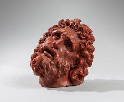Gennaro CHIURAZZI (1842-1906).Tête de Laocoon d'après l'antique. Epreuve en cire....